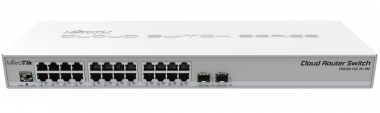 Switch réseau 24 ports 10/100/1000 + 2 port SFP+ MikroTik CRS326-24G-2S+RM