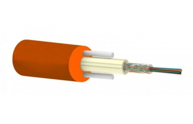 Câble fibre à enterrement direct 1x2 monomode G657A1 gaine PEHD orange gel hydrophobe (Vendu au mètre)