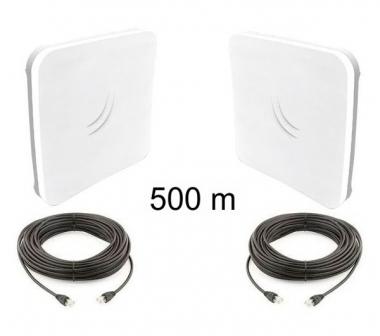 Kit Pont Réseau BASIC MikroTik 2.4 GHz jusqu'à 500 mètres (v2)
