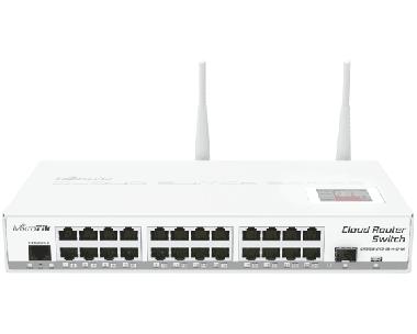 Switch réseau 24 ports 10/100/1000 + 1 port SFP MikroTik CRS125-24G-1S-2HnD-IN