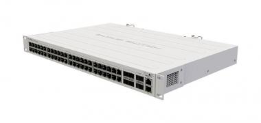 Switch réseau 48 ports Gigabit Ethernet + 4 ports SFP+ & 2 ports QSFP+ 40 Gbps MikroTik CRS354-48G-4S+2Q+RM