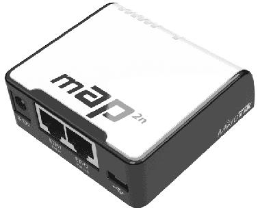 Point d'accès 2.4 GHz MikroTik mAP 2nD