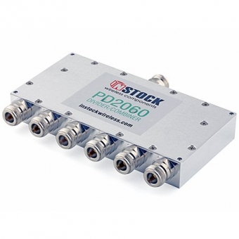 Splitter/Combiner 6 voies 0.7-2.7 GHz N-Femelle InStock PD2060