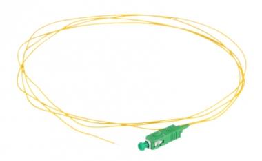 Pigtail fibre monomode G657A1 à souder SC/APC simplex 2m