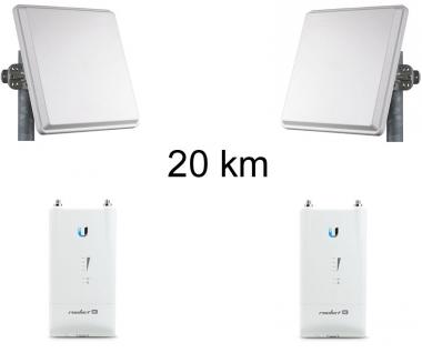 Kit Pont Réseau Très Haut débit 5 GHz Longue portée jusqu'à 20 km (v3)