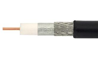 Coaxial Satellite / TV RG-11 extérieur gel-filled à faible perte (1 mètre)