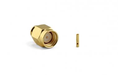 Connecteur à souder RP-SMA-Plug pour QFX141/RG402