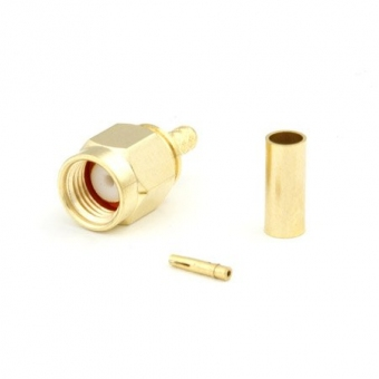 Connecteur à sertir RP-SMA-Plug pour RG-174/RG-316