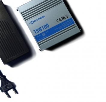 Switch réseau industriel PoE+ 802.3af/at 5 ports 10/100/1000 Teltonika TSW100