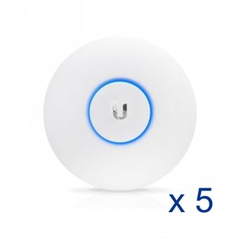 Point d'accès intérieur Ubiquiti UniFi UAP-AC-LR-5 802.11ac (Lot de 5 sans injecteurs PoE)