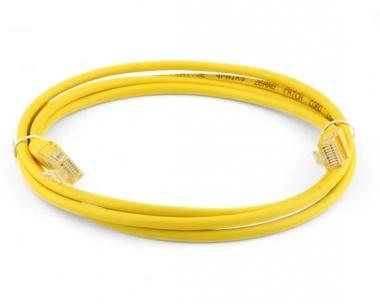 Cordon réseau Cat. 5e UTP jaune (50 cm)