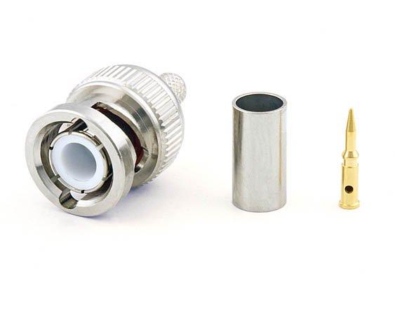 Connecteur à sertir BNC-Mâle (plug) pour RG-58/CNT-195 Telegärtner J01000L1255