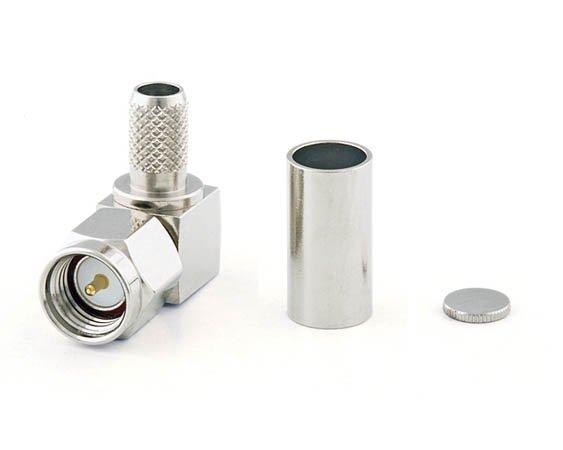 Connecteur à sertir SMA-Mâle coudé pour RG-58/CNT-195