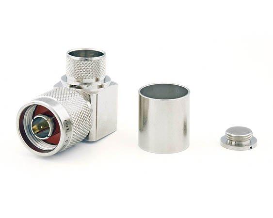 Connecteur à sertir N-Mâle coudé pour CNT-600/LMR-600