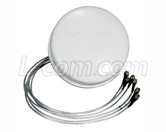 Antenne Plafond 2.4/5.x GHz 4 dBi L-Com HG2458-4SDC-6RSP
