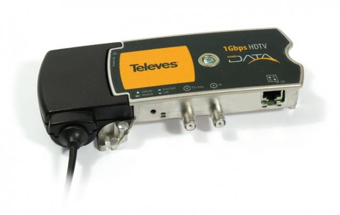 Adaptateur Ethernet Gigabit - HDTV Televes Data Coax 769203