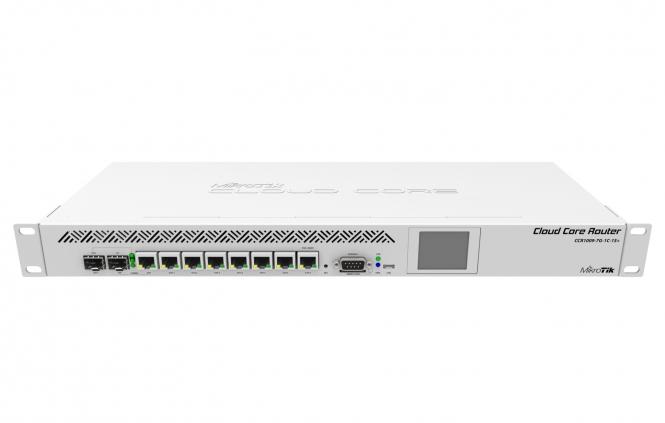 Routeur central hautes performances MikroTik Cloud Core CCR1009-7G-1C-1S+