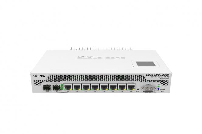 Routeur central hautes performances MikroTik Cloud Core CCR1009-7G-1C-1S+PC
