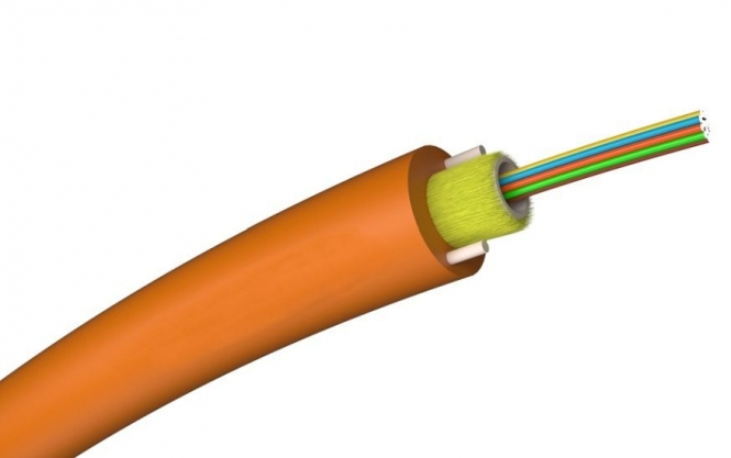 Câble fibre monomode enterrement direct G657A1 9/125 1x8 gaine PEHD 6.5mm (1 mètre)