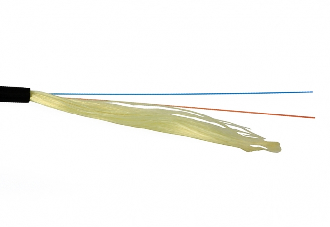 Câble fibre monomode PE G657A2 9/125 1x4 (1 mètre)