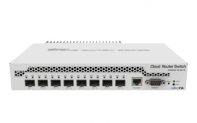 Switch administrable MikroTik CRS309-1G-8S+IN 8 ports SFP+ 1 port Gbits