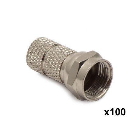 Connecteur F-Mâle pour coax 6,8 mm (le lot de 100)