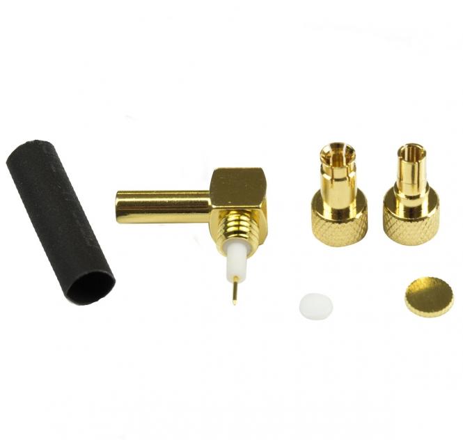 Connecteur à sertir Flextwist© CRC9/TS9 pour RG-174/RG-316