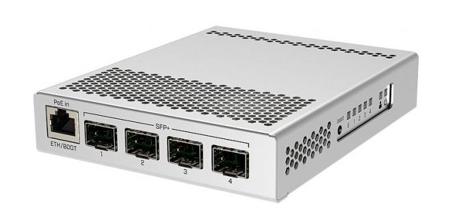 Switch réseau 1 port gigabit Ethernet + 4 ports SFP+ MikroTik CRS305-1G-4S+IN