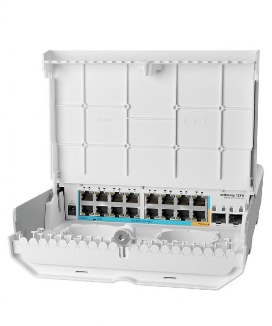 Switch PoE extérieur MikroTik netPower 15FR CRS318-1Fi-15Fr-2S-OUT