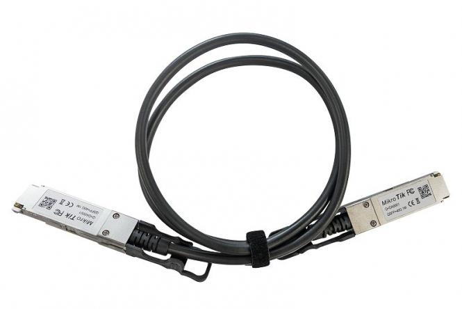 Cordon 1 mètre avec module QSFP+ 40 Gbps MikroTik Q+DA0001