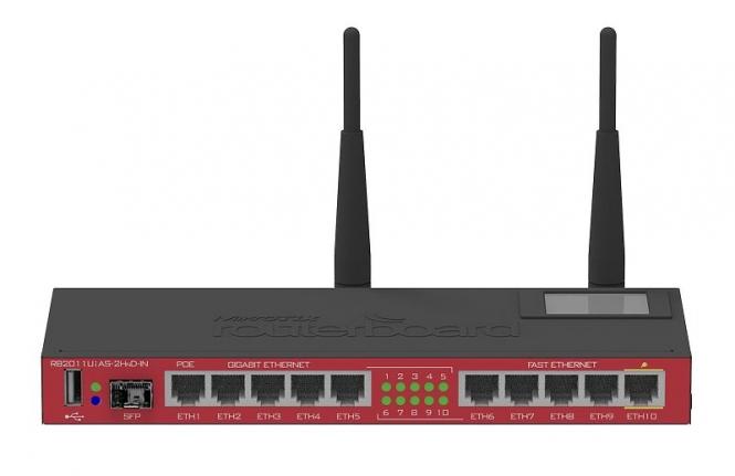 Routeur/Point d'accès MikroTik RB2011UiAS-2HnD-IN