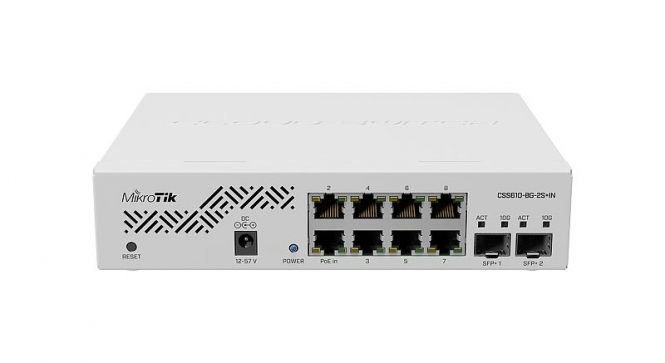 Switch administrable MikroTik CSS610-8G-2S+IN 8 ports Gigabit + 2 SFP+