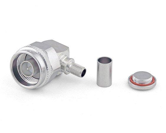 Connecteur à sertir N-Mâle coudé pour H-155/CNT-240 Telegärtner J01020A0097