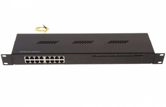 Parafoudre Rackable Ethernet RJ45 8 ports avec injecteur PoE Passif Gigabit