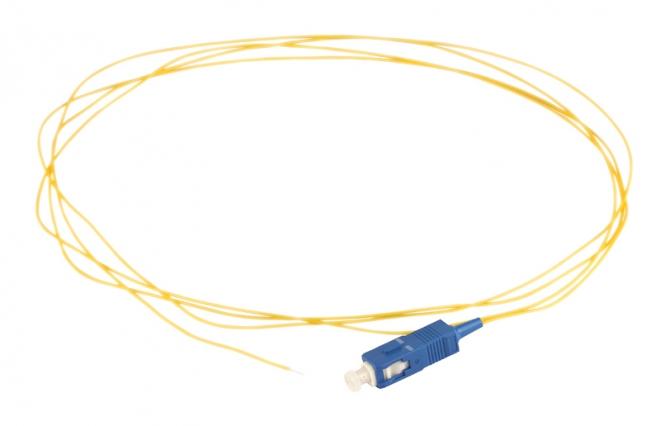 Pigtail fibre monomode G657A1 à souder SC/UPC simplex 2m