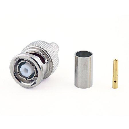 Connecteur à sertir RP-BNC Mâle (Plug) pour H-155/CNT-240