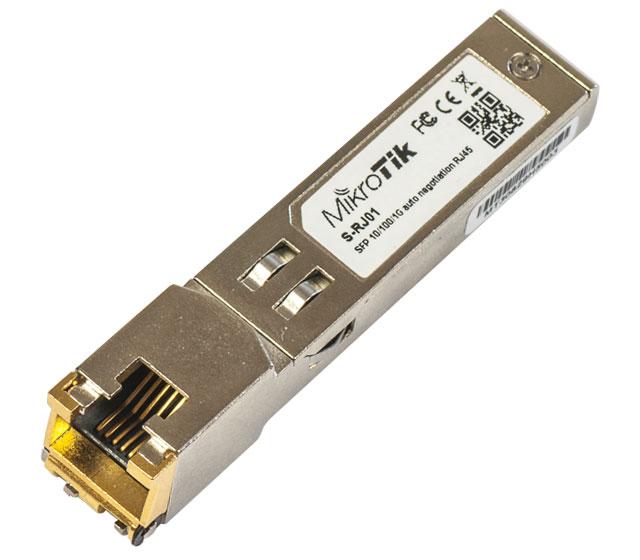 Module SFP vers Ethernet RJ45 10/100/1000 MikroTik S-RJ01