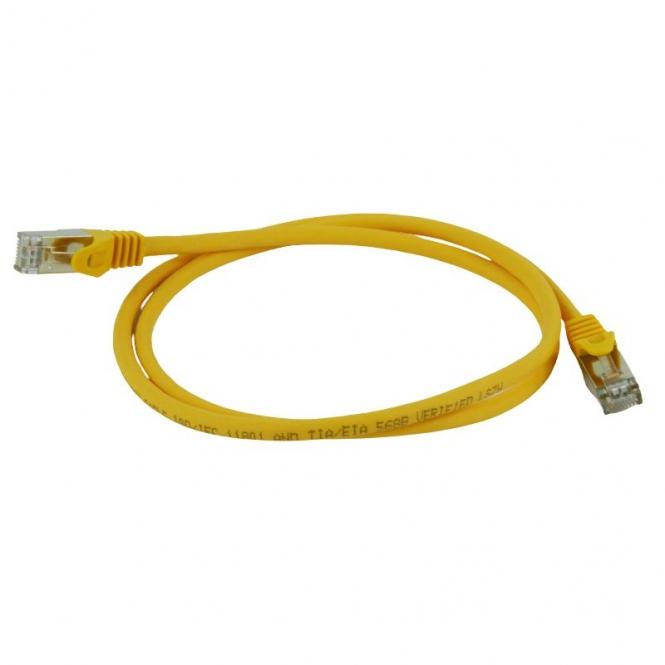 Cordon réseau blindé Cat. 6a SFTP Jaune (1 mètre)