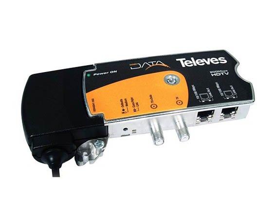 Adaptateur Ethernet Gigabit - HDTV Televes Data Coax + CPL 769201