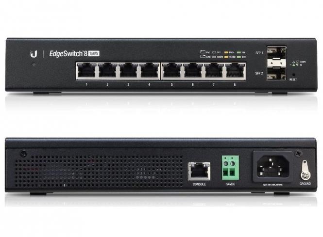 Switch réseau PoE administrable Ubiquiti EdgeSwitch ES-8-150W 8 ports + 2 SFP 150 Watts