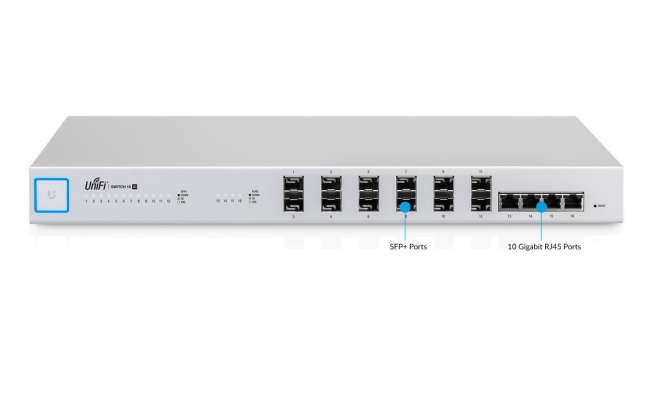 Switch réseau Ubiquiti UniFi Switch US-16-XG 12 ports SFP+ / 4 ports RJ45
