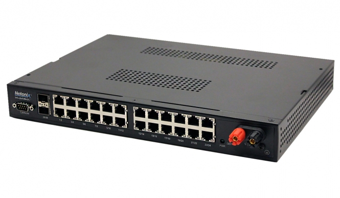 Switch réseau PoE administrable 24ports + 2 SFP Netonix WS-26-500-DC