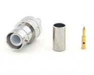 Connecteur à sertir RP-BNC-Femelle (Jack) pour RG-58/CNT-195