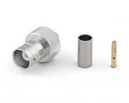Connecteur à sertir BNC-Femelle (jack) pour RG-58/CNT-195 Telegärtner J01001A1265