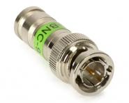 Connecteur BNC-Mâle (plug) à compression pour coaxial faible perte type RG-6