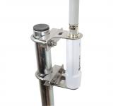Brides de fixation inox pour Ubiquiti Bullet M2/M5 sur mât (sans étriers et contre-brides)