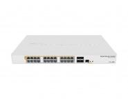Switch réseau PoE 24 ports 10/100/1000 + 4 ports SFP+ MikroTik CRS328-24P-4S+RM