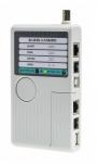 Testeur de câble Ethernet (RJ45 et BNC), téléphone et USB