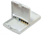 Routeur/Switch MikroTik PowerBox RB750P-PB (r2) avec ports PoE passif (Reconditionné)