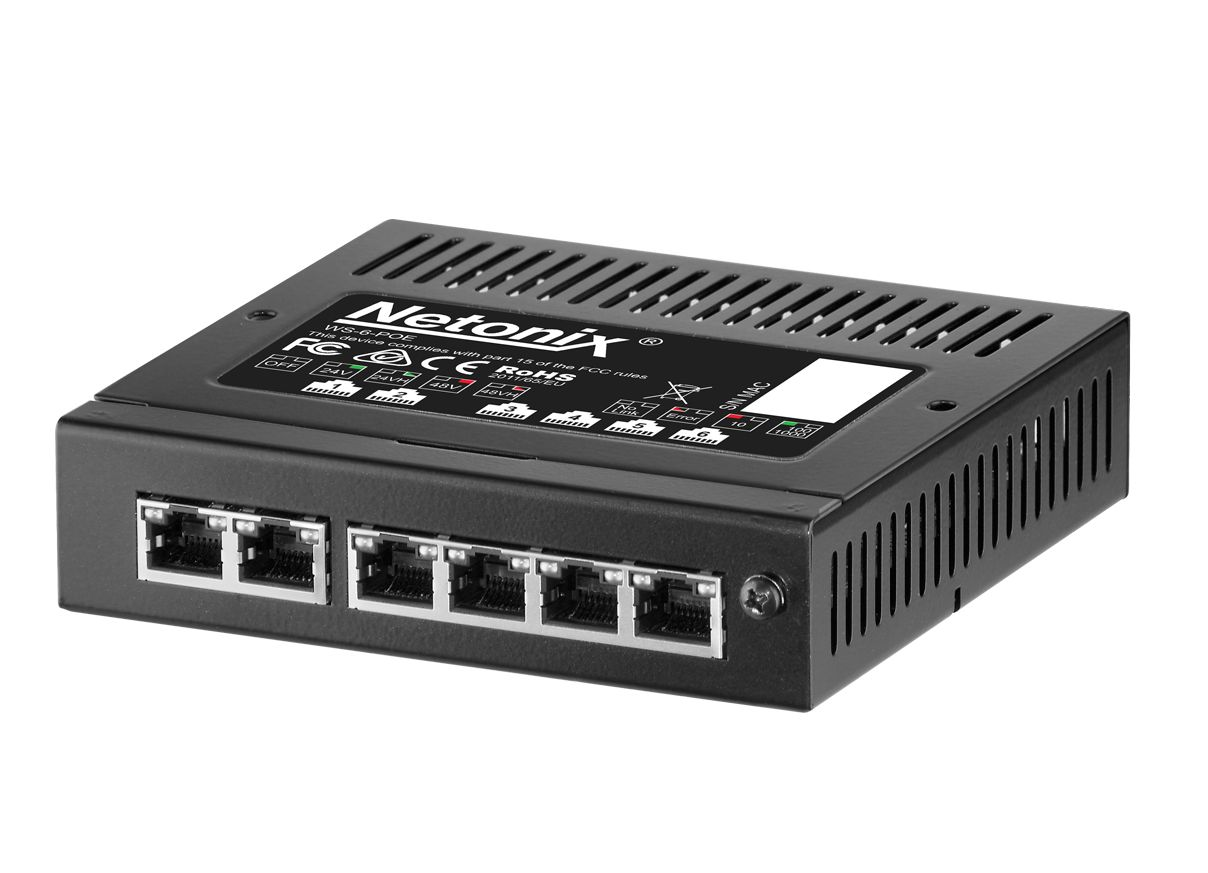 Switch réseau PoE administrable 6 ports Netonix WS-6-Mini